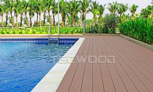 Lắp sàn gỗ nhựa Tecwood bể bơi
