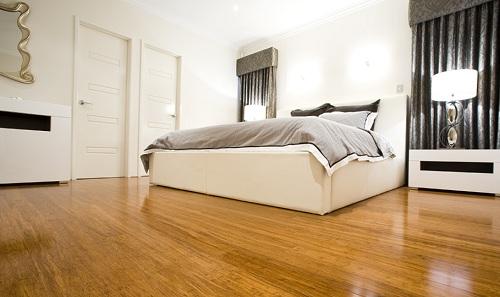 sàn gỗ công nghiệp lắp cho phòng ngủ