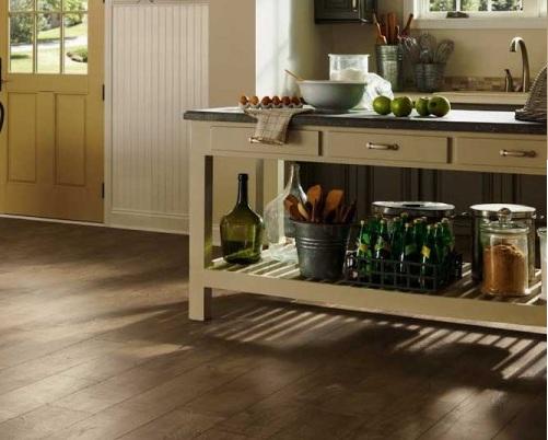 sàn gỗ cho nhà bếp