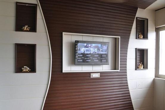 ốp tường PVC vân gỗ trang trí