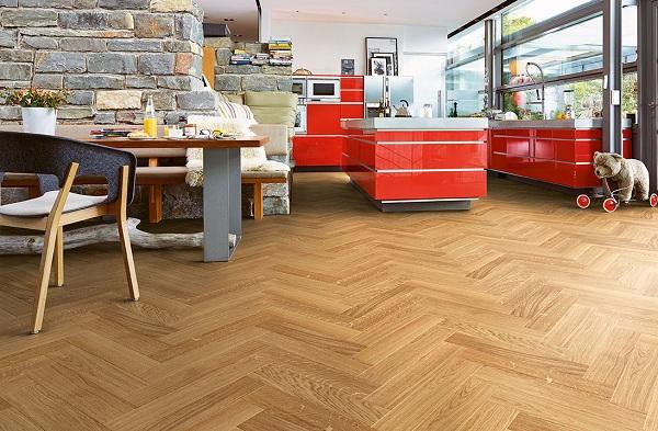 sàn gỗ công nghiệp ốp xương cá giá rẻ