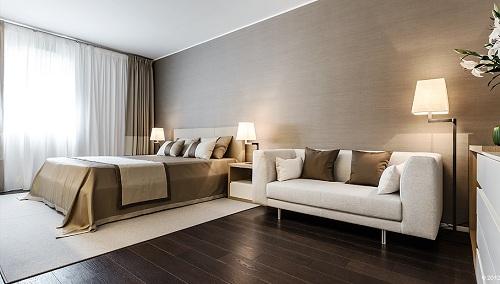 sàn gỗ công nghiệp phòng ngủ